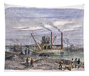 Suez Canal Construction Tapestry
