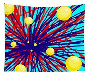 Summer Splat With Yellow Balls Tapestry