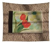 Sun And Tulips Tapestry