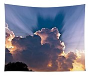 Sun Rays And Clouds Tapestry