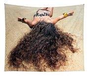 Sunbathing Woman Tapestry