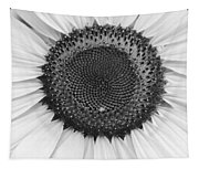 Sunflower Center Black And White Tapestry