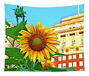 Sunflower In The City Tapestry