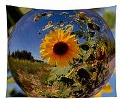 Sunflower Through A Glass Eye Tapestry