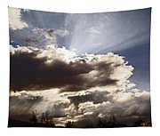 Sunlight And Stormy Skies Tapestry