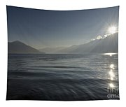 Sunlight Over An Alpine Lake Tapestry