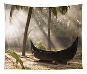 Sunlight Shining On A Canoe Tapestry