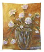 Sunny Carnations In A Vase Tapestry
