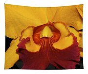 Sunny Yellow Orchid Tapestry
