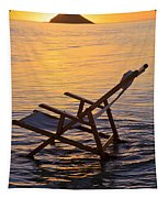 Sunrise Beach Lounging Tapestry