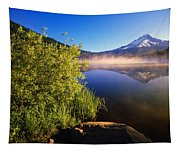 Sunrise Fog On Trillium Lake Tapestry
