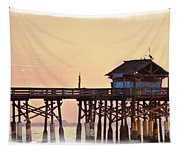 Sunrise On Rickety Pier Tapestry