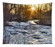 Sunrise On The St Vrain River Tapestry