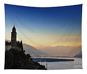 Sunrise Over An Alpine Lake Tapestry