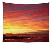 Sunrise Over Union Reservoir In Longmont Colorado Boulder County Tapestry