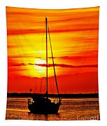 Sunrise Sailing Tapestry