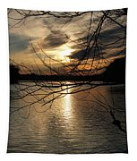 Sunset At The Lake Tapestry