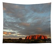 Sunset At Uluru Tapestry
