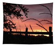 Sunset Bird Tapestry