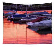 Sunset Harbor Tapestry