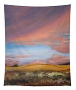Sunset In Hawaii Tapestry