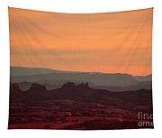 Sunset In Moab Tapestry