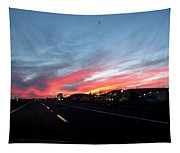 Sunset On Route 66 Tapestry