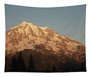 Sunset On The Mountain Tapestry