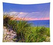 Sunset On Wellfleet Dunes Tapestry