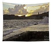 Sunset Over Dubrovnik 2 Tapestry