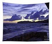 Sunset Over Dubrovnik Tapestry