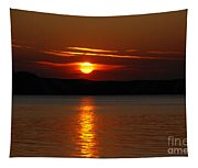 Sunset Over Silver Lake Sand Dunes Tapestry