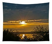 Sunset Over Steilacoom Bay Tapestry