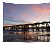 Sunset Pier San Simeon California 1 Tapestry