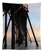 Sunset Pier California 3 Tapestry