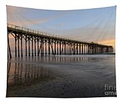Sunset Pier  California 5 Tapestry