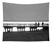 Sunsets On Coney Island In Black And White Tapestry