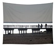 Sunsets On Coney Island Pier Tapestry