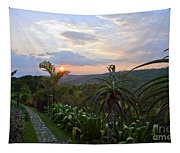 Sunsetting Over Costa Rica Tapestry