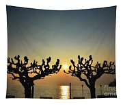 Sunshine Over A Lake Tapestry