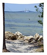 Sunshine Skyway From The Causeway Tapestry