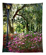 Sunshine Through Savannah Park Trees Tapestry