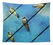 Swallows Goes To South Tapestry