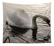 Swan Along The Shore Tapestry