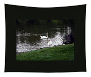 Swan Couple Tapestry