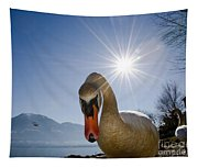 Swan Saying Hello Tapestry