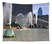 Swann Memorial Fountain In Philadelphia Tapestry