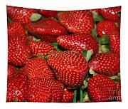 Sweet Florida Strawberries Tapestry