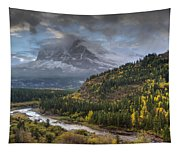Swiftcurrent River Overlook Tapestry