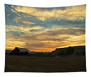 Table Rock Sunset And Barn Tapestry